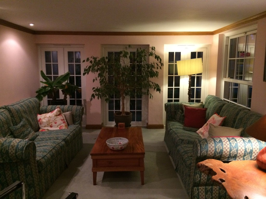 Living room, furniture blocking doors