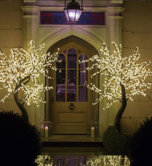 Warm welcome entrance front door