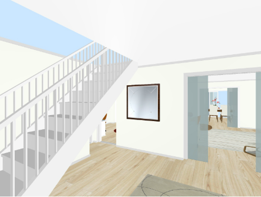 Renovating hallway and home entrance. Home remodelling.