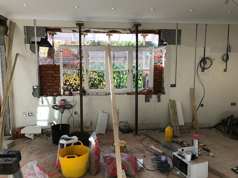 Kitchen design inserting window