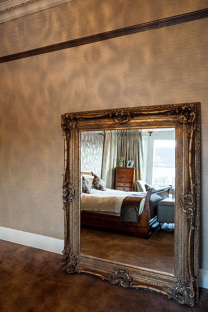 Autumnal palette bedroom