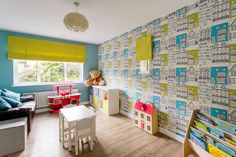 colourful children's room, playroom with wallpaper, Interior designer Oxfordshire, home decor, interior stylist, interior designer buckingham, interior designer berkshire, interior designer London, playroom interior design Henley, niki Schafer interior designer Oxfordshire