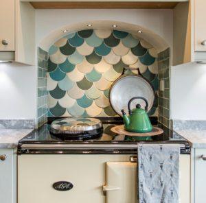 ombre colour kitchen tiles, modern kitchen, kitchen designs, interior design, interior stylist, Oxfordshire
