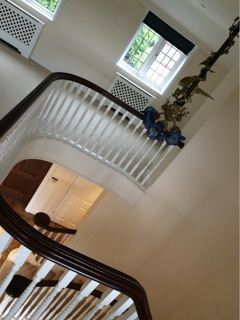 Before shot of stair lighting