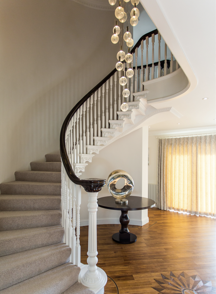 After shot of stair lighting