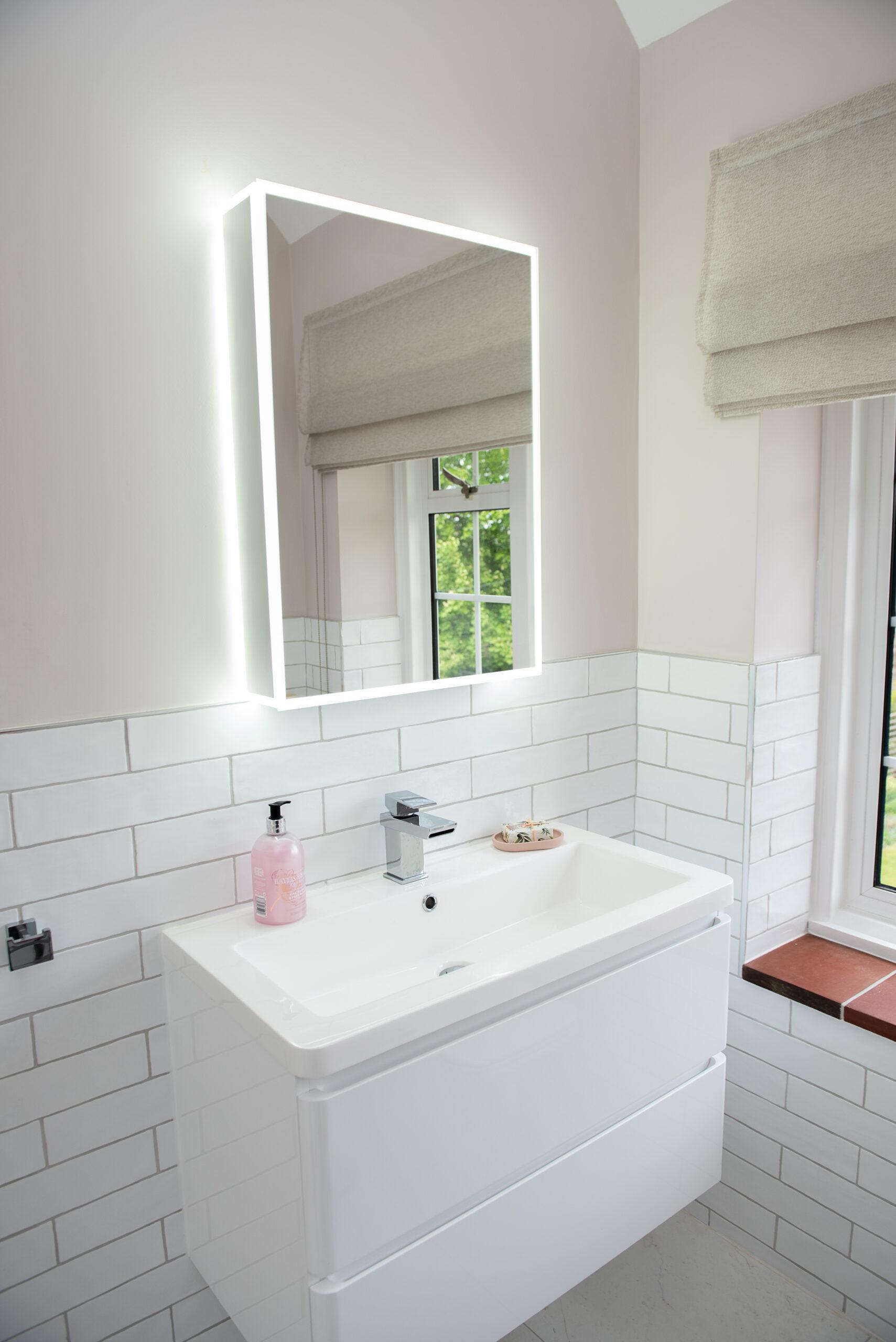Fairways Goring Ensuite Bathroom Sink and Mirror