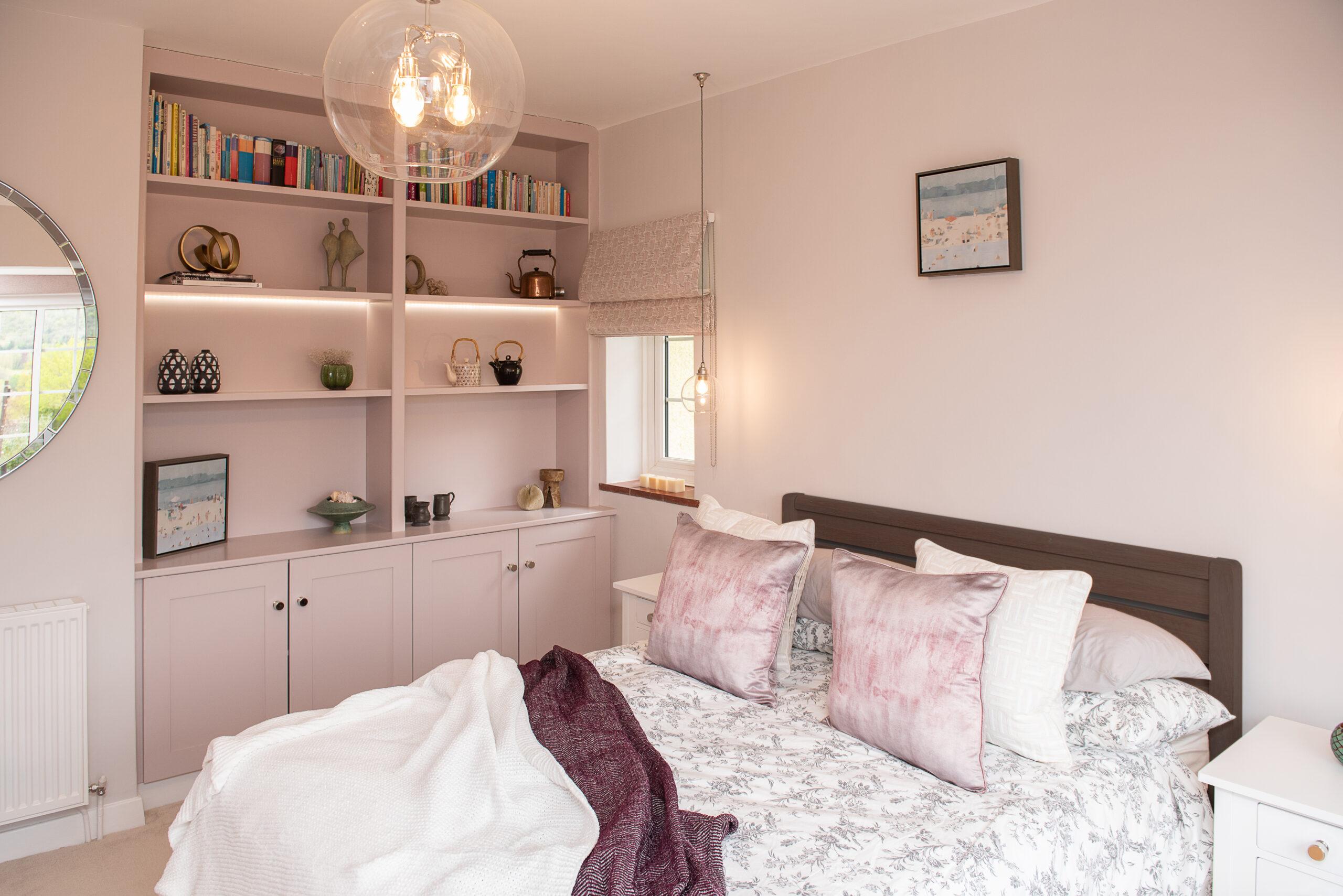 Fairways Goring Bedroom Bed and Shelving